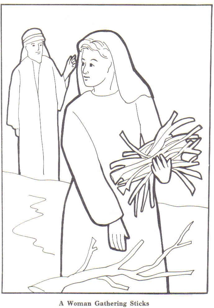 elijah and the widow coloring page for vbs - Elijah Bible Story Coloring Pages