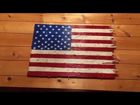 how to recycled art American Flag made from pencils