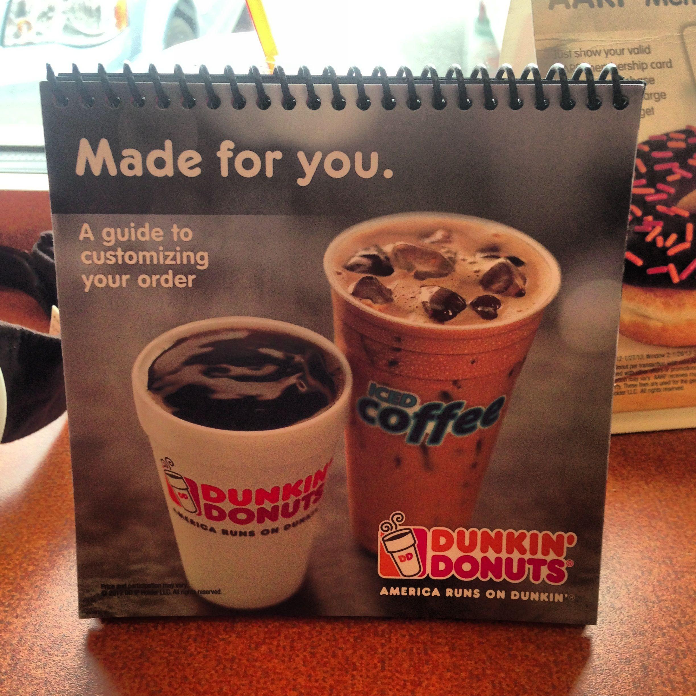 Dd drinks dunkin dunkin donuts card making