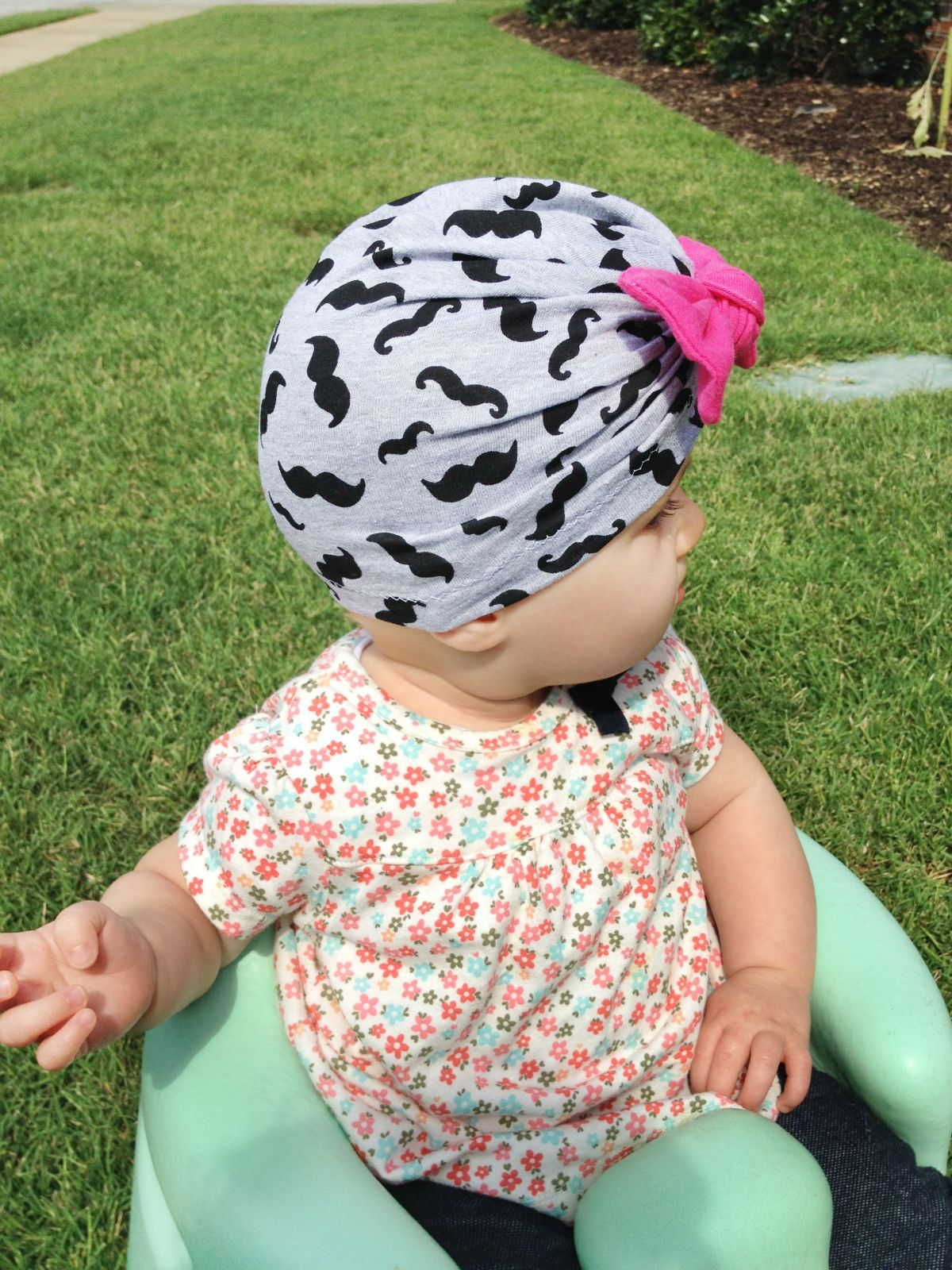 Bow Turban Hat (beanie) pattern for babies through adults. Makes a great  cancer cap too! c24b680ed34