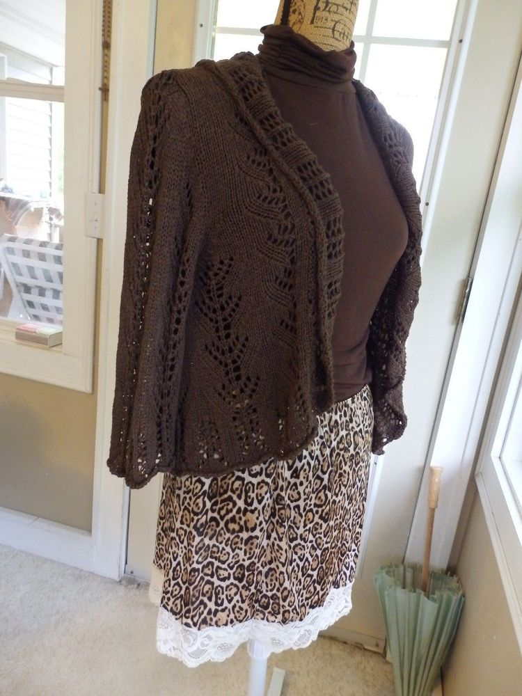 Chocolate Brown Cardigan By Alexie A Made In Italy Womens Brown