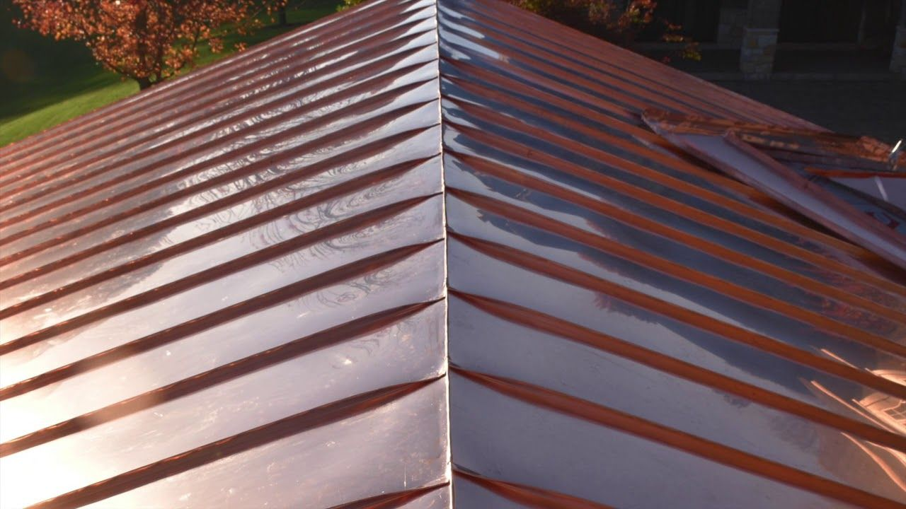 Standing Seam Copper Roof Installation In 2020 Standing Seam Metal Roof Copper Roof Metal Roof