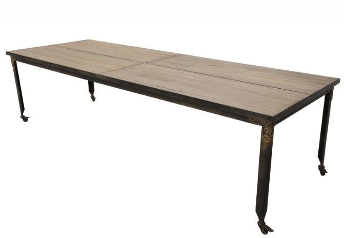 Mesa de comedor industrial especial madera pino for Comedor industrial buffet
