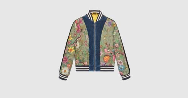 a940a9a867c Gucci Flora Snake print silk bomber jacket | out of my league | Silk ...