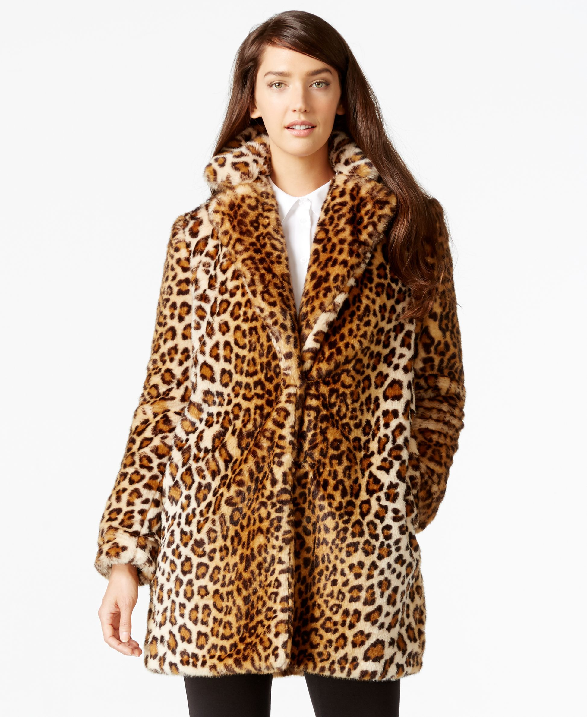 daf3996f809a Calvin Klein Leopard-Print Faux-Fur Coat | My Christmas List | Coat ...