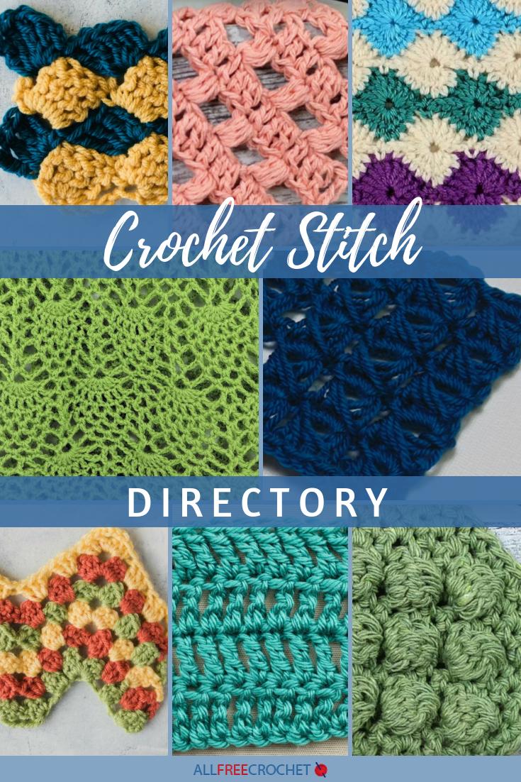 Crochet Stitch Directory 26 Stitch Patterns Advanced Crochet Stitches Crochet Stitches Crochet Stitches Library
