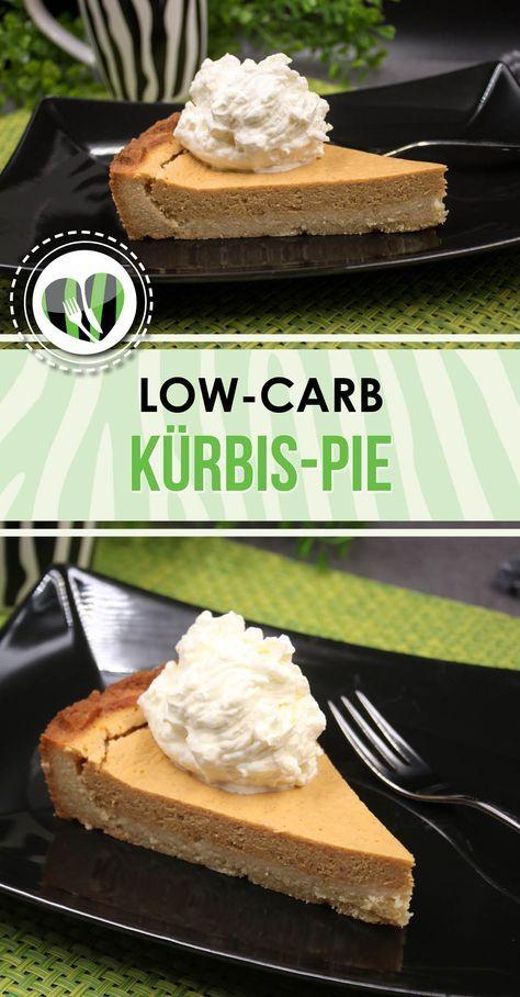 Der low-carb Kürbis-Pie ist sau lecker und zudem auch noch glutenfrei. Er schmeckt besonders gut mit Sahne.