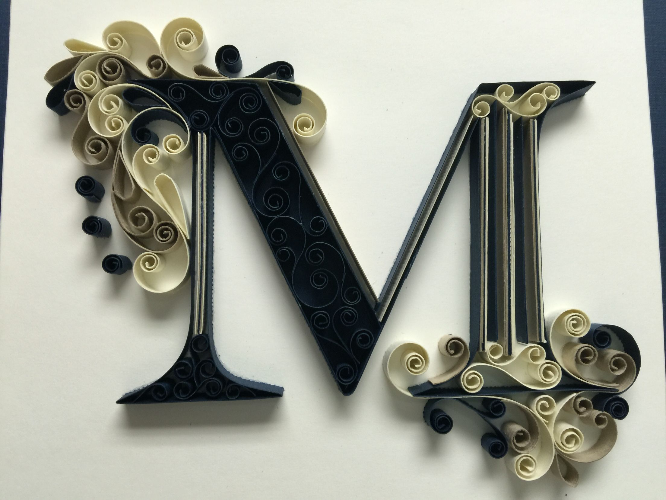 Monogram Quilling Letter M By Amy Creasy Quilling Letters Quilling Quilling Paper Craft