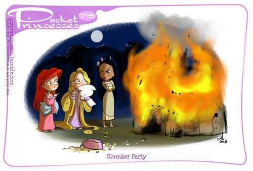 Pocket Princesses 75: Slumber Party Bit of a Glen Keane fest going on here.. Please reblog, do not repost or post to other sites!! Official Disney print 'Singalong' available here