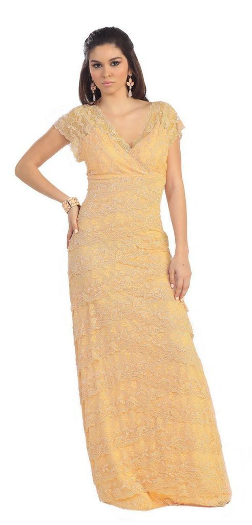 Mother of the Bride Dress Plus Size Formal Evening Long Gown Groom-The Dress Outlet