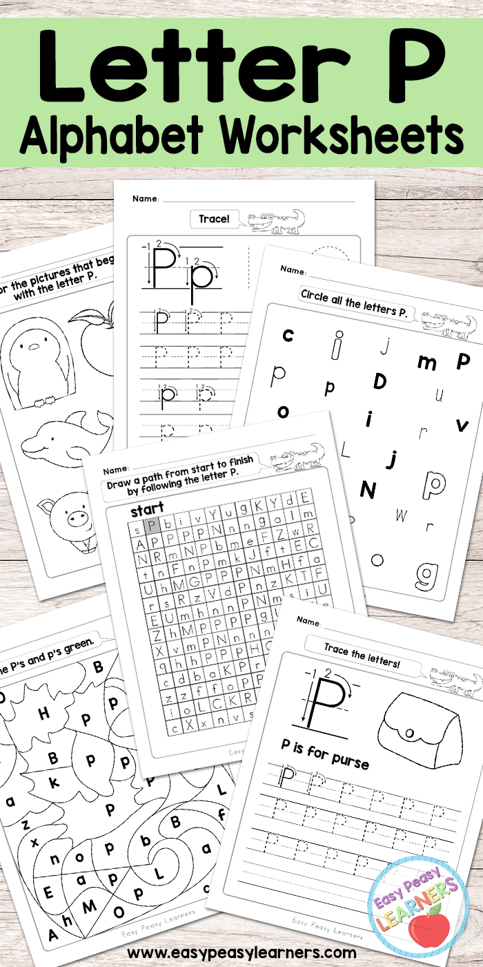 Free Printable Letter P Worksheets - Alphabet Worksheets Series ...