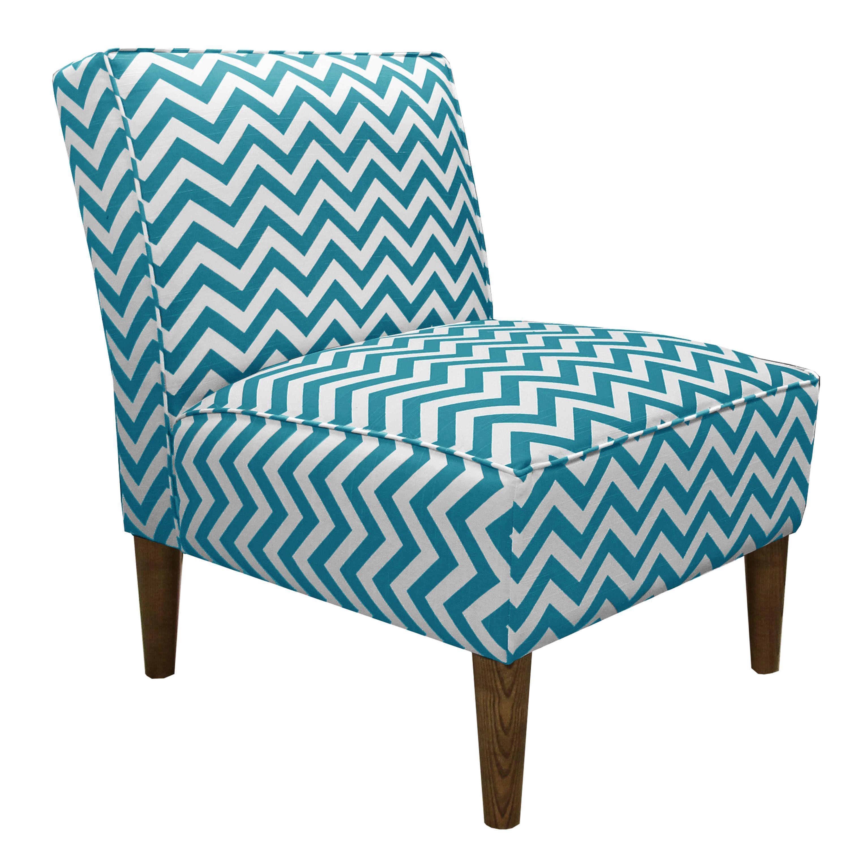 Skyline Furniture Accent Chair In Zig Zag True Turquoise (Zig Zag True  Turquoise),