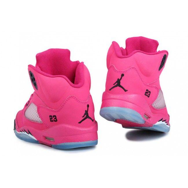 wholesale dealer 7d781 dcf0c Light Hot Pink Air Jordan 5 V Juniors Girls Shoes (Every ...
