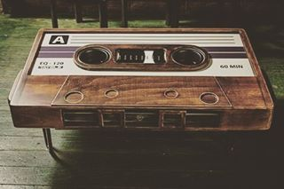 What do you think of this amazing cassette tape coffee table