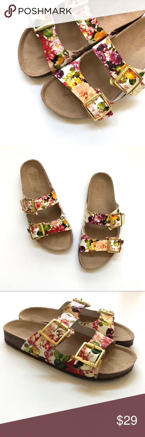 7676196ceb0c3 Madden Girl Brando floral slide sandals Madden Girl slides in excellent  condition! Size 8.5.