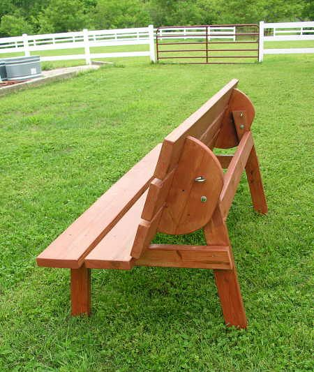 convertible bench/table construction plans | outdoor crafts and