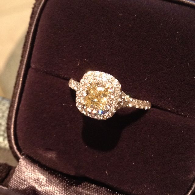 Tiffany fancy intense yellow diamond engagement ring...I'm waiting ever so patiently ;)