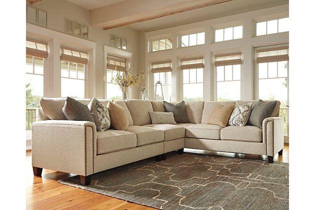 Kieman 3 Piece Sectional By Ashley Homestore Tan Living Room Furniture Ashley Sectional Furniture