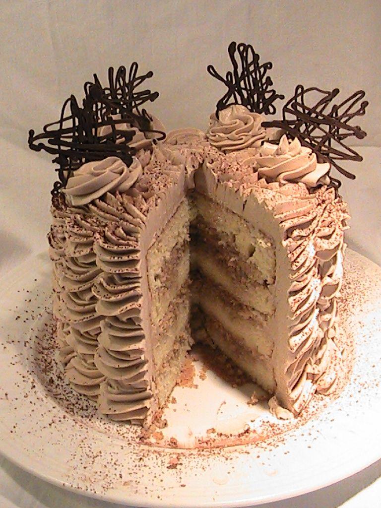 Mocha Espresso Mascarpone Layer Cake