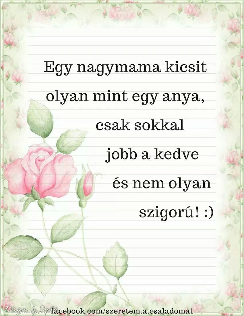 nagymamás versek idézetek Pin by Tóth Ágnes on Anyák napja, nőnap, Valentin | Mother's day