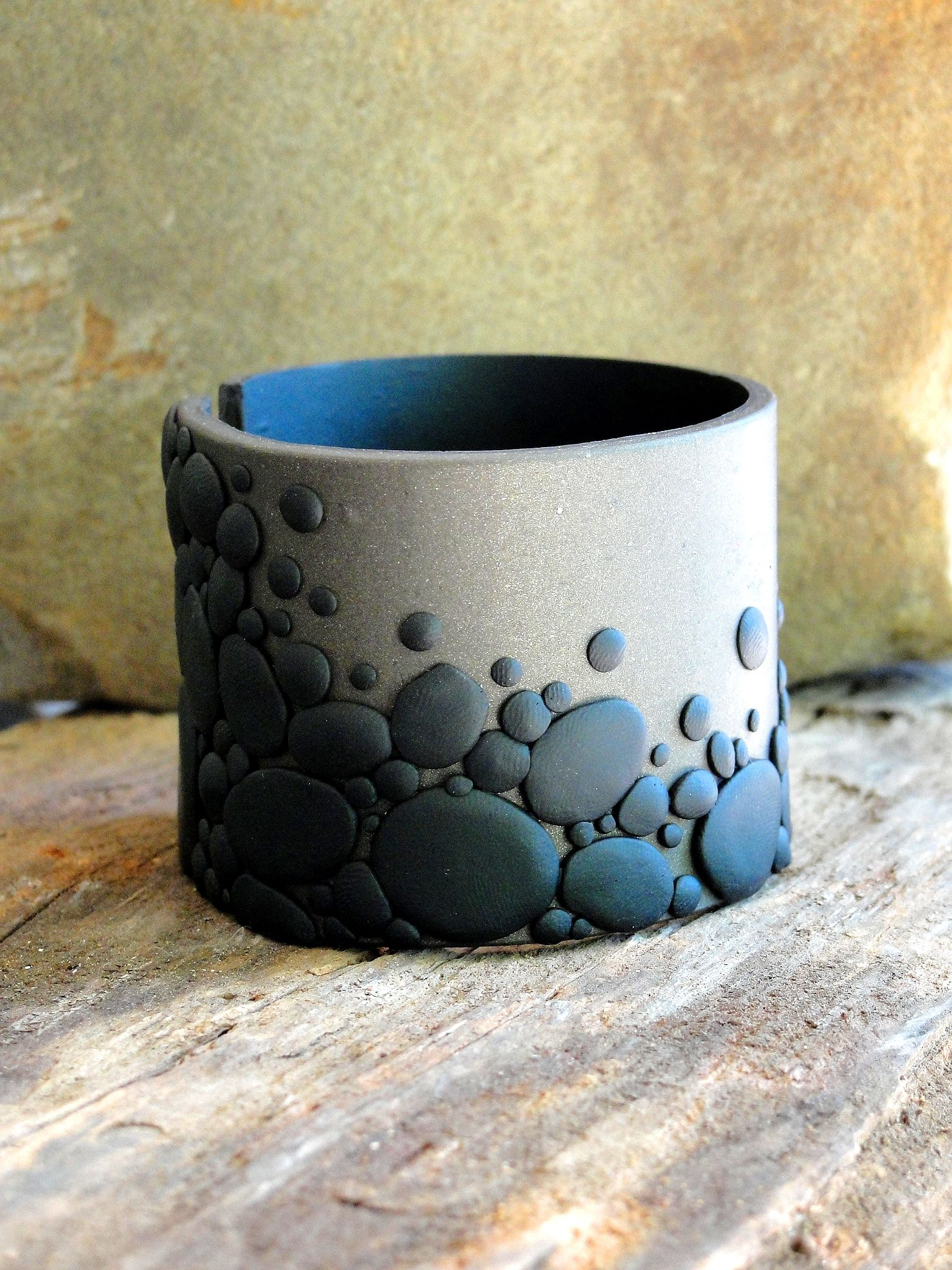 Andy Brown you are talented beyond belief - this Pebble Cuff is just a sample of the beauties she creates!