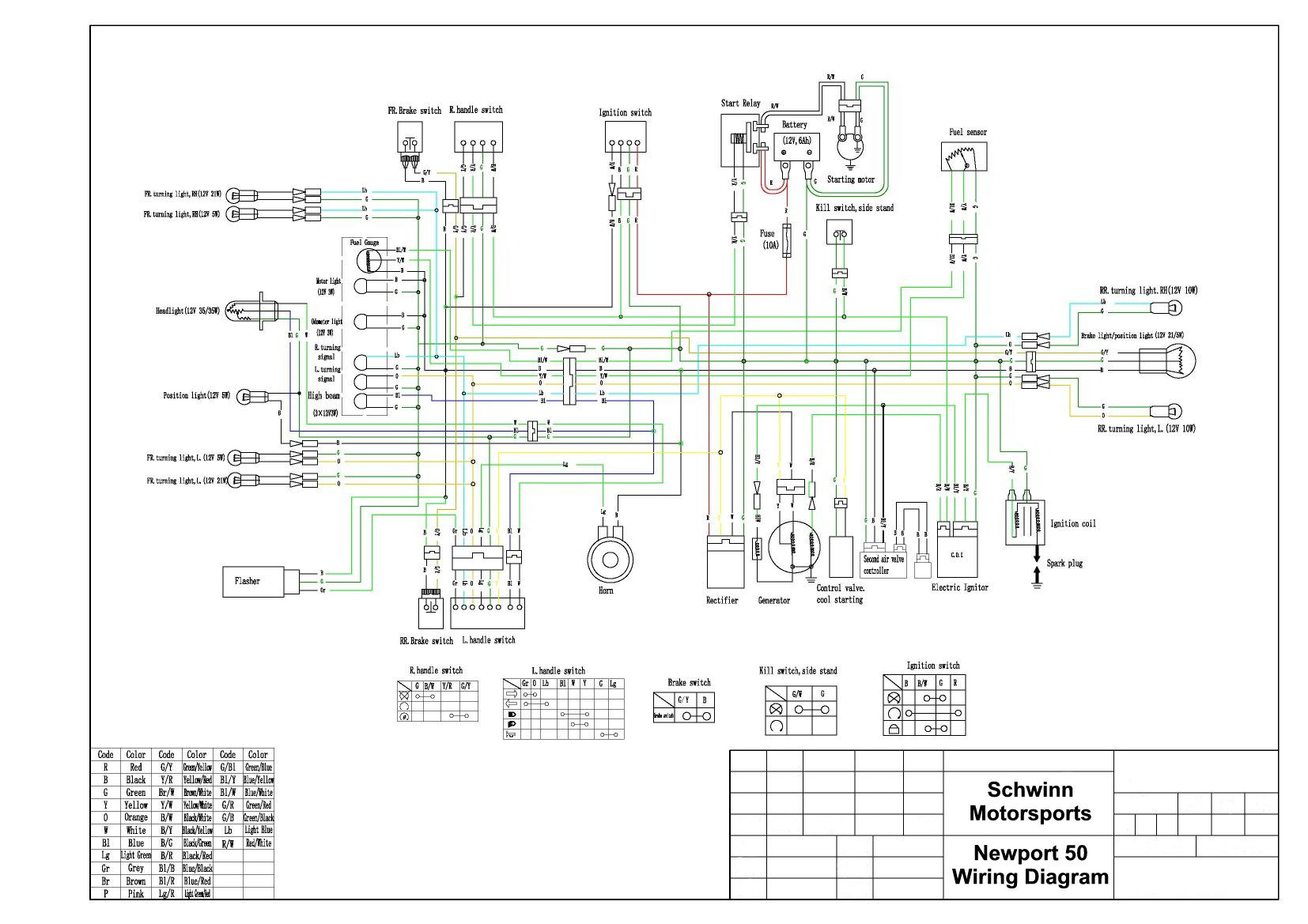 49cc Chinese Moped Wiring Diagram