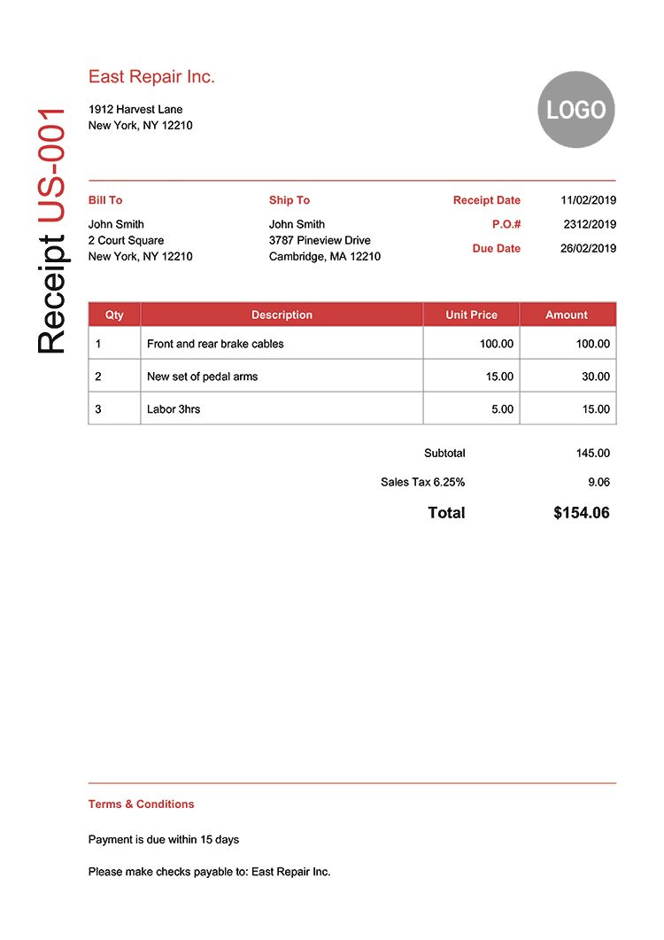 100 Free Receipt Templates Print Email Receipts As Pdf For Fake Credit Card Receipt Template Cume Free Receipt Template Receipt Template Invoice Template