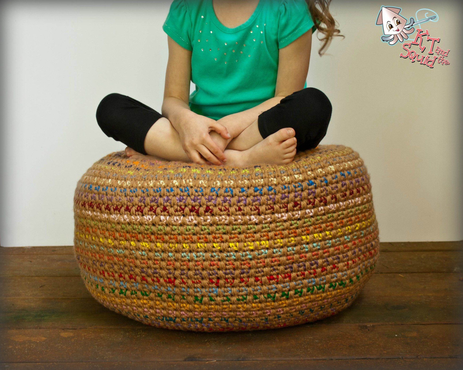 Stash Busting Monster Pouf: A Free Crochet Pattern | KT and theSquid ...