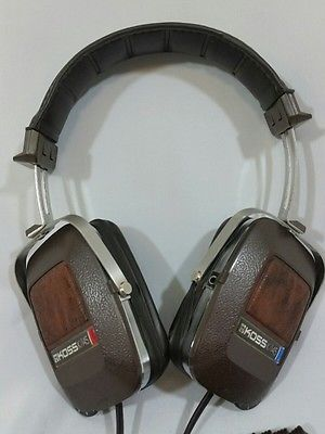 00aba2a0c82 Cuffie KOSS K/145 Stereo Headphones Leather & Chrome 70's vintage retro
