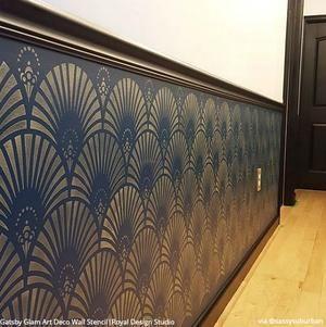 Gatsby Glam Art Deco Wall Stencil