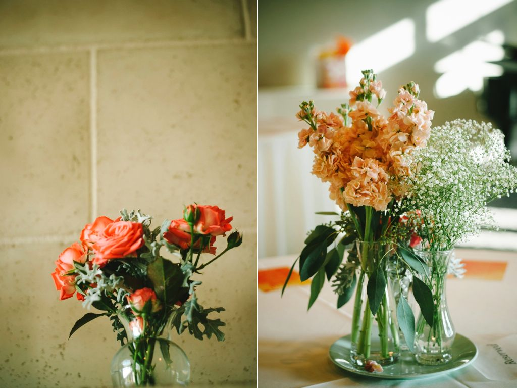 Vintage Peach C Wedding Flower Centerpieces Utah Calie Rose Sleepy Ridge Weddings Chantel Marie Photography