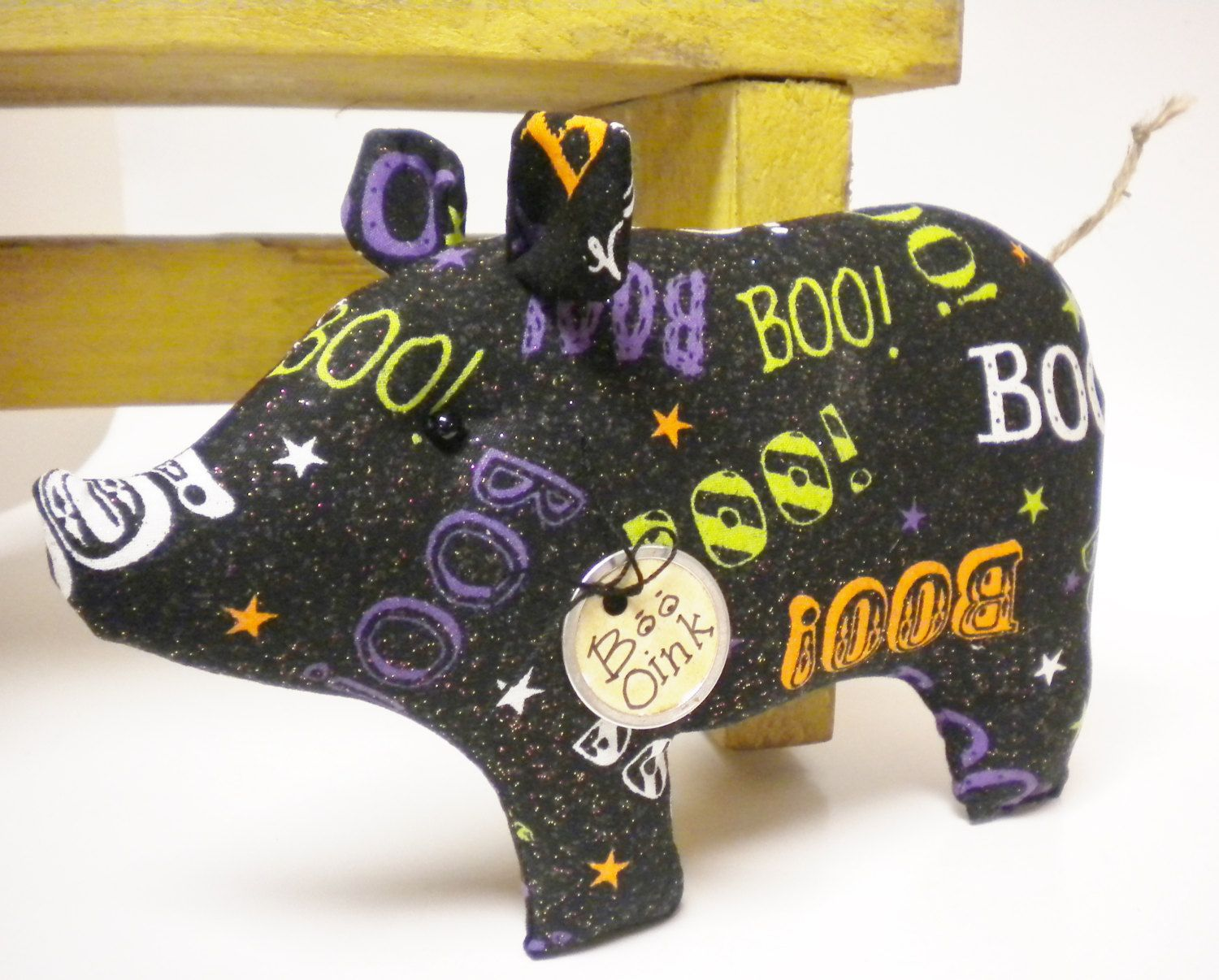Halloween Pig - Made To Order, Primitive Halloween Decor, Decorative - Primitive Halloween Decor