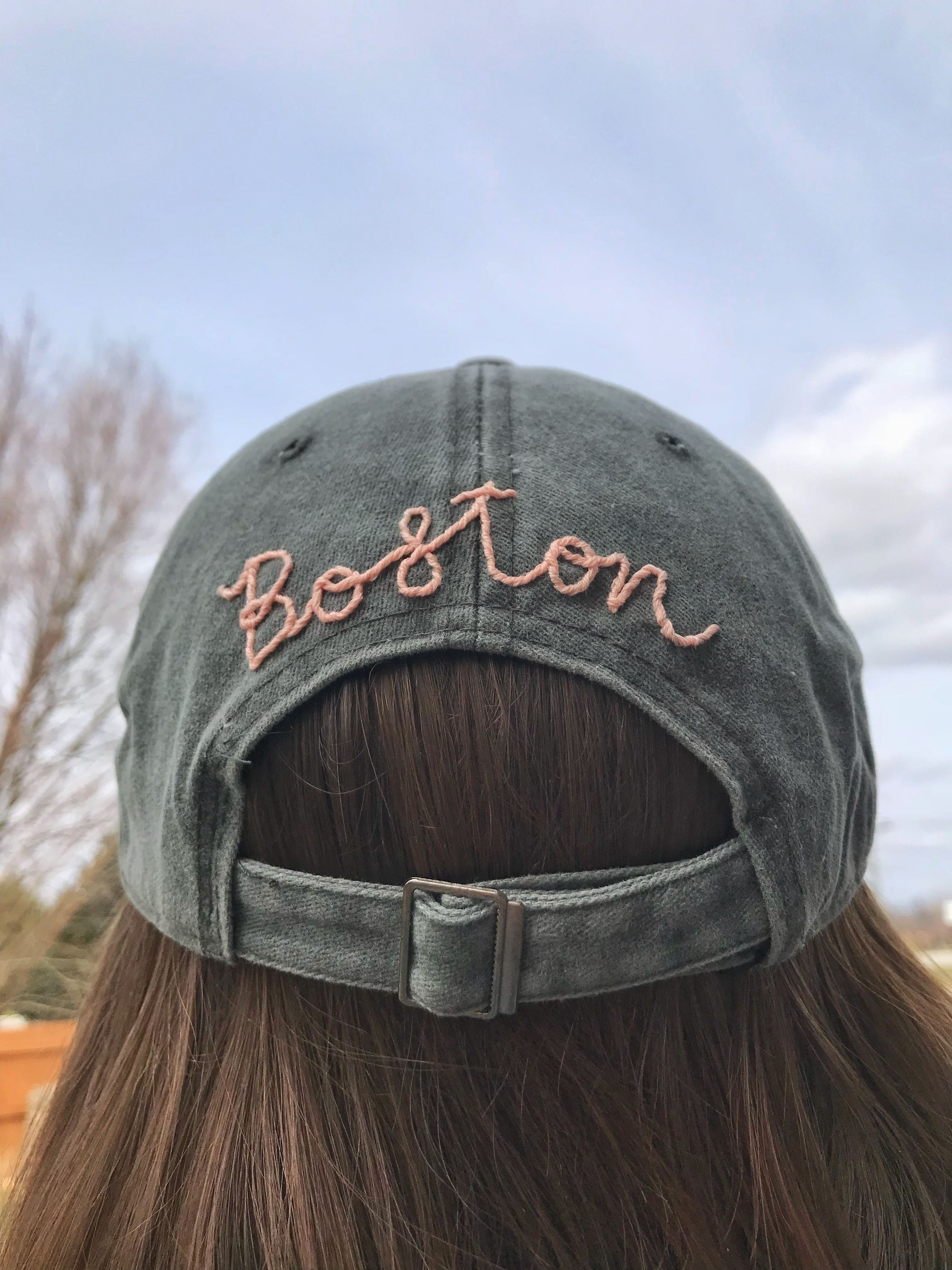 Custom Women S Baseball Cap Spring Fashion Massachusetts Modern Embroidery Embroidery Unique Items Products