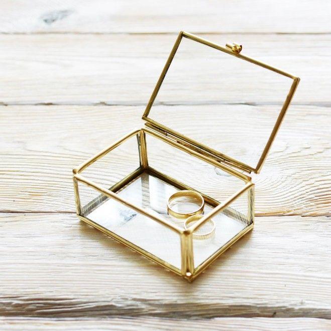 Mała, złota szkatułka/pudełko na biżuterię|Sklep | ReBelle