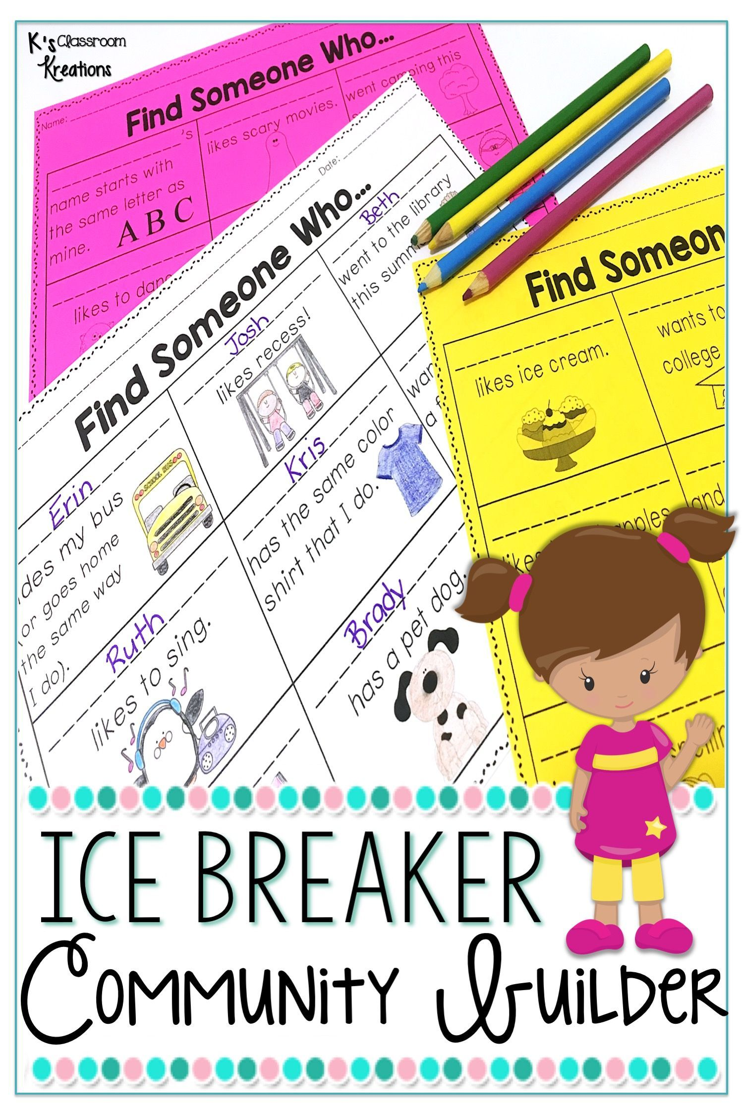 Back To School Icebreaker Activity