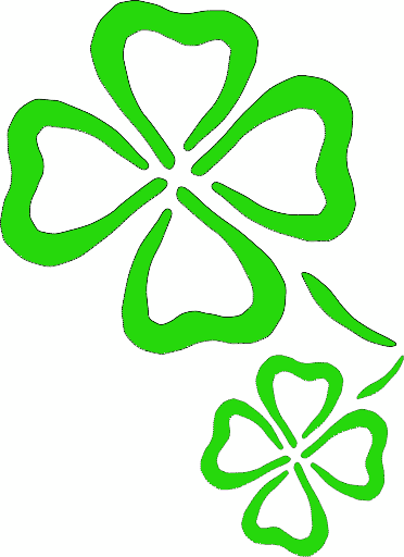 4 leaf clover free shamrock clipart holiday stpatrick clip art 3 rh pinterest com shamrocks clip art black and white shamrock clip art border