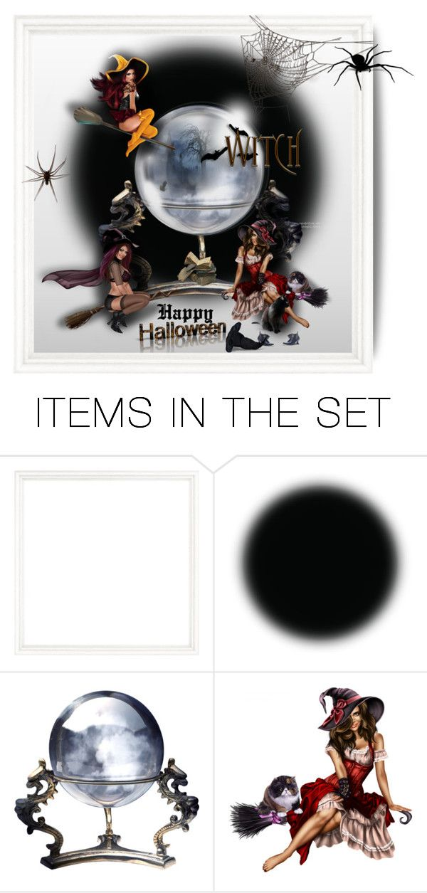 """3 witch's family portrait - Happy Halloween!"" by mcheffer ❤ liked on Polyvore featuring art, Halloween and artexpression"