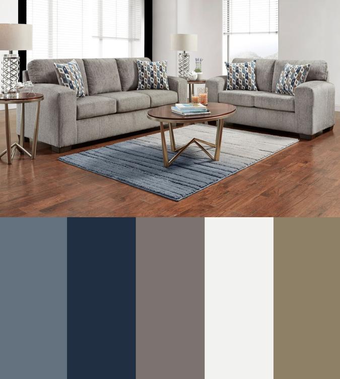 Navy Gray Blue Tan Living Room Color Scheme Silverton Sofa And Love Seat Living Room Set Am Tan Living Room Living Room Decor Gray Blue Living Room Decor