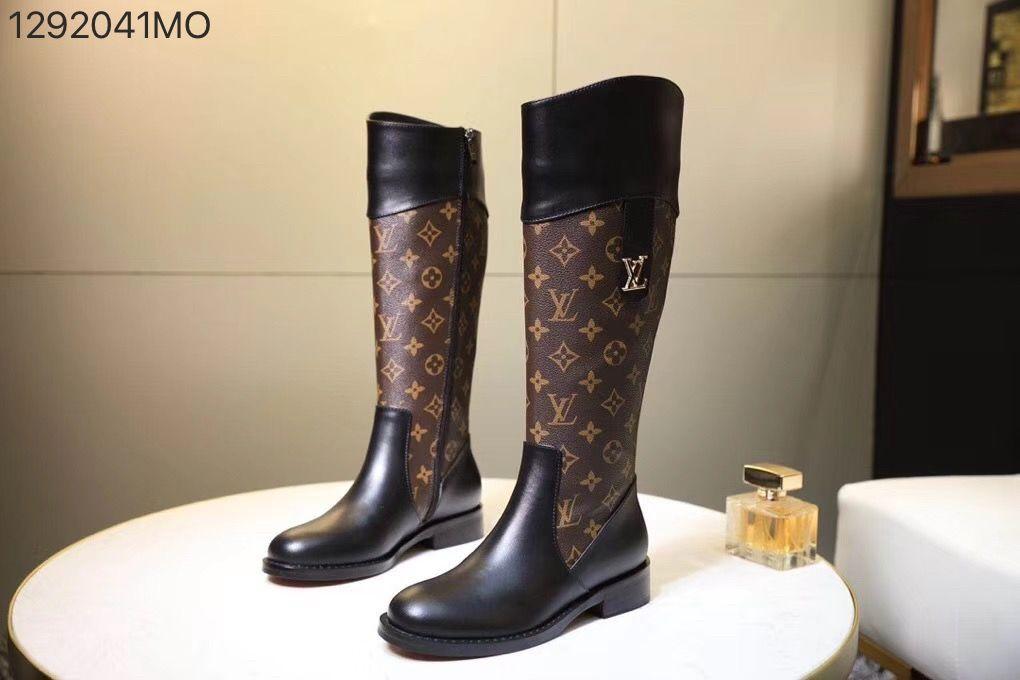 69a003d2205 Louis Vuitton lv woman long knee high monogram boots