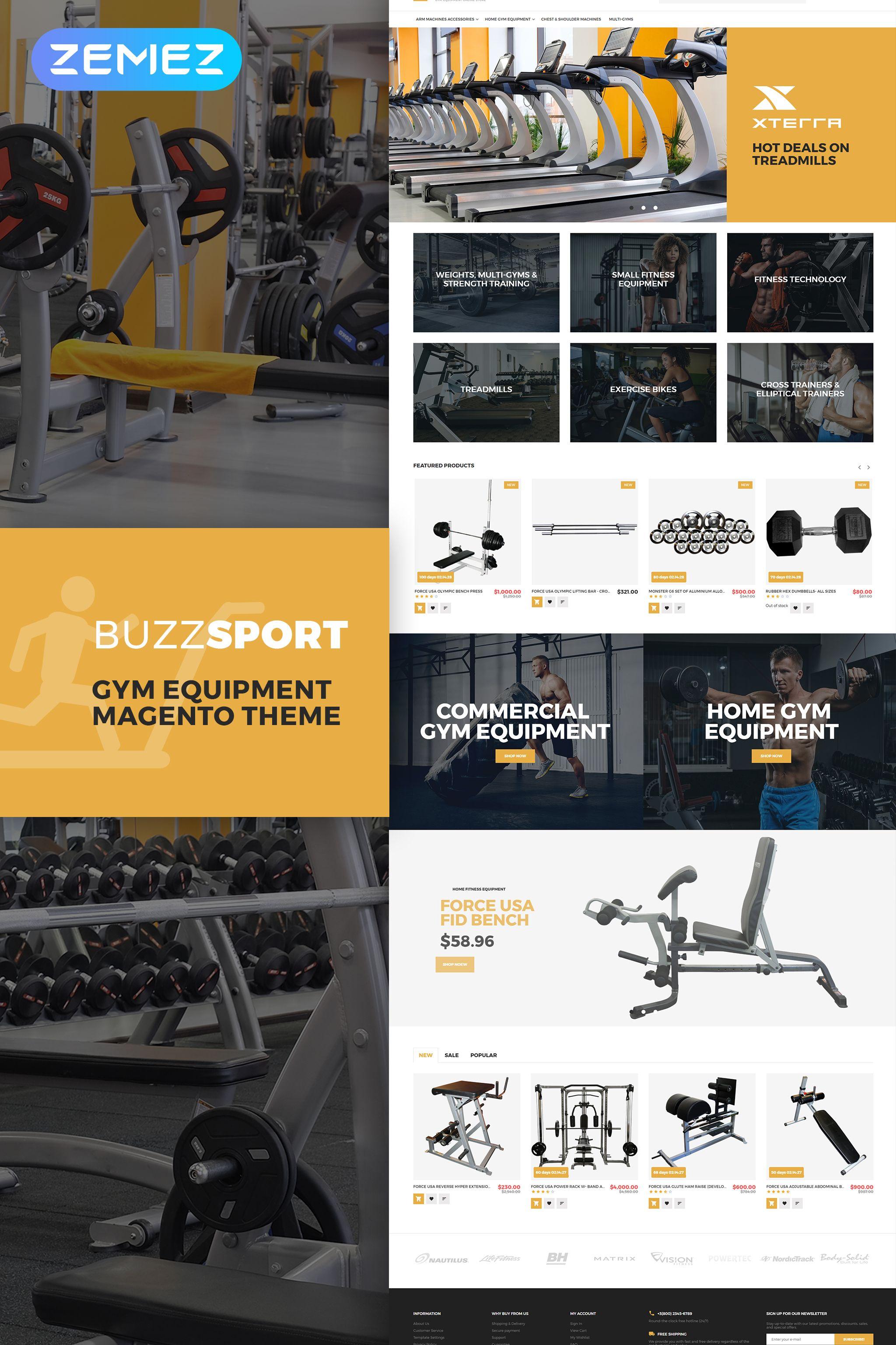 Buzzsport Gym Equipment Magento Theme Templatemonster Magento Themes Gym Equipment Gym