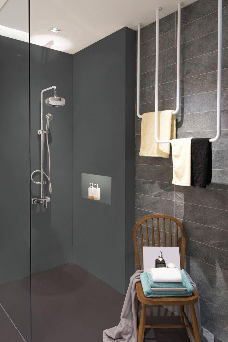 Renovation D Une Douche A L Italienne Avec Beton Interieur