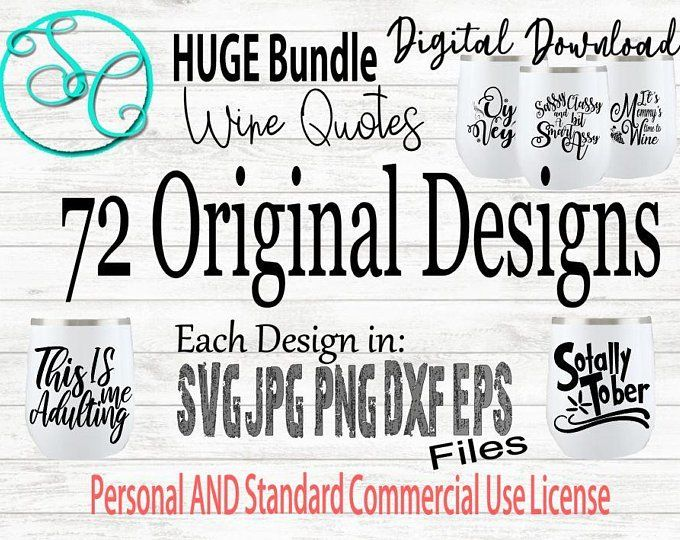 Svg quotes bundle of 18 funny wine glass sayings sale