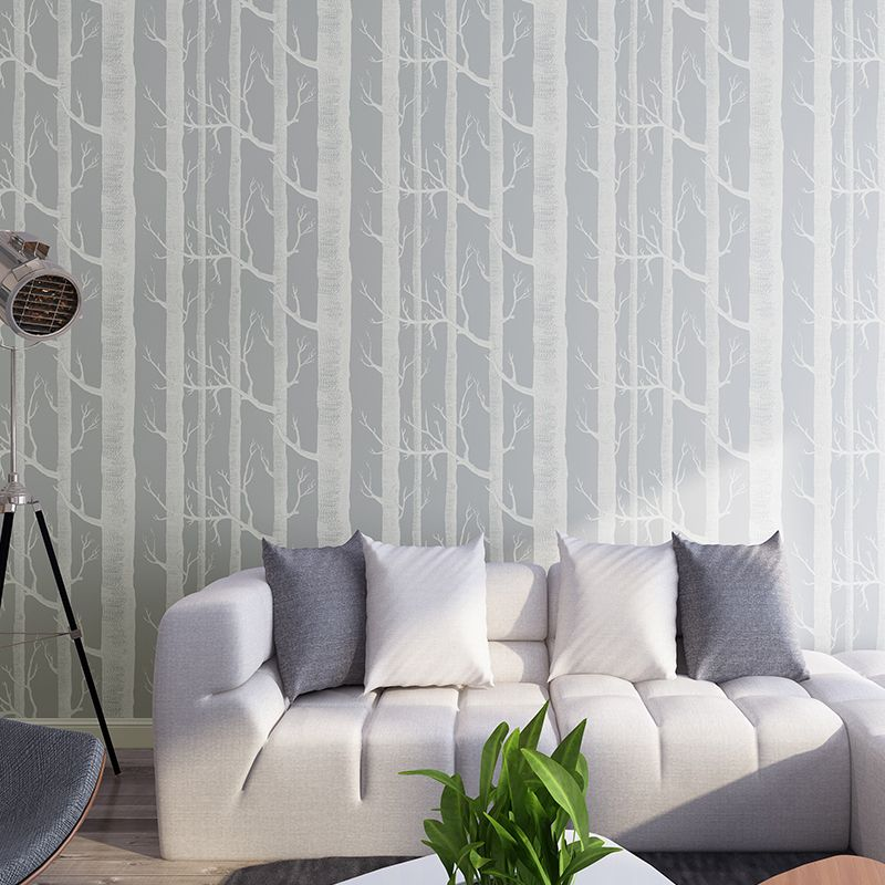 for t murale bouleau arbre motif bois papier peint rouleau moderne simple papier peint design. Black Bedroom Furniture Sets. Home Design Ideas