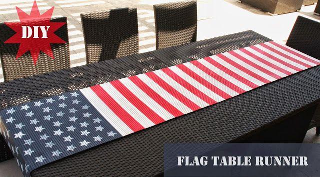 - diy flag table runner  @Gayle Robertson Daniel @BettieTuck @Cindy Strickler Beach