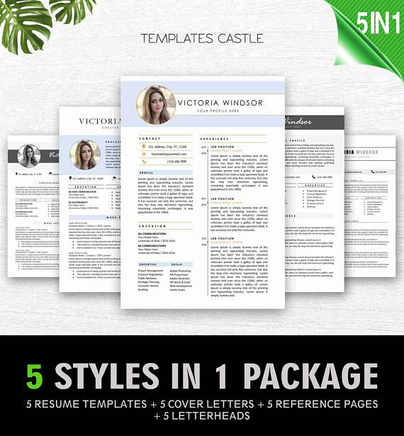 Resume Templates Bundle Cover Letter MS Word Teacher Best Resume - resume 5 pages