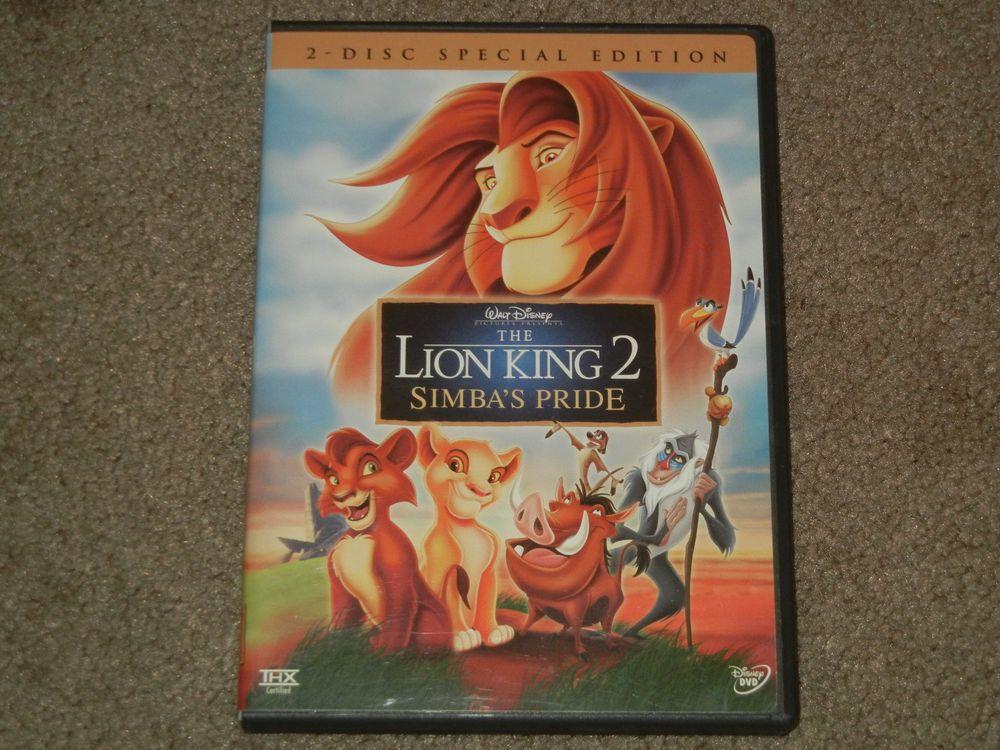 Disney The Lion King 2 Simba S Pride Dvd Movie 2 Disc Special Edition 2004 Lion King 2 Lion King Lion