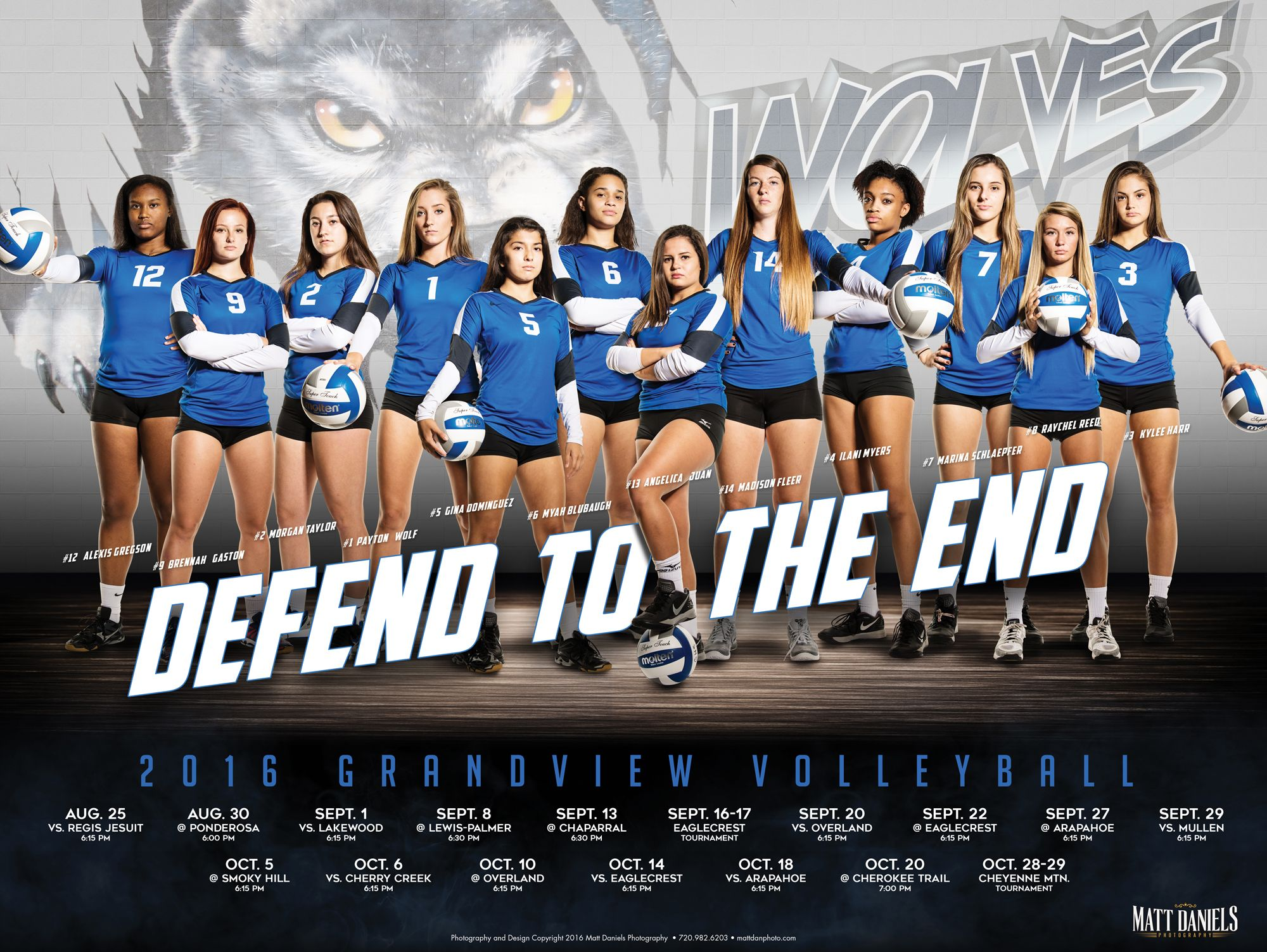 Photography And Poster Design Created For The 2016 Grandview Volleyball Team Copyright Volleyball Photography Sports Team Photography Volleyball Team Pictures