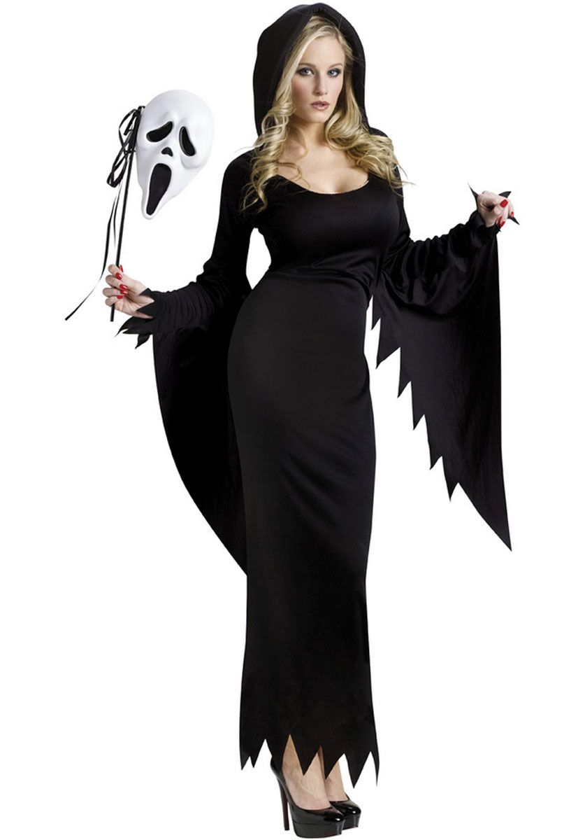 Scream Ghost Face Gown Ladies Costume - Halloween Costumes at ...