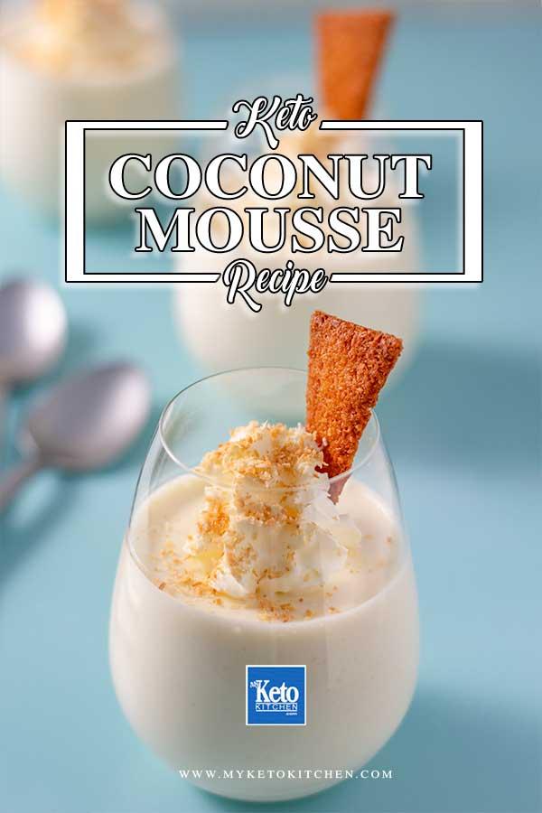 Keto Coconut Mousse Light & Fluffy SugarFree Dessert