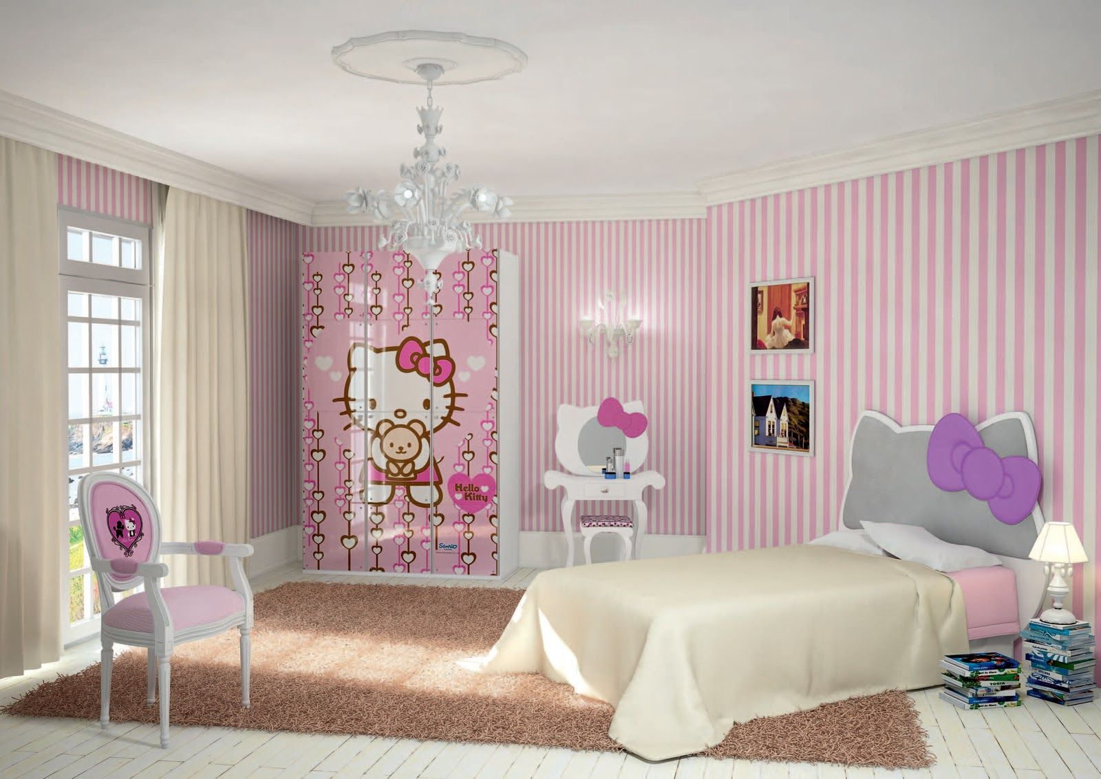 HK room | Girl bedroom decor, Hello kitty rooms, Teenage ...